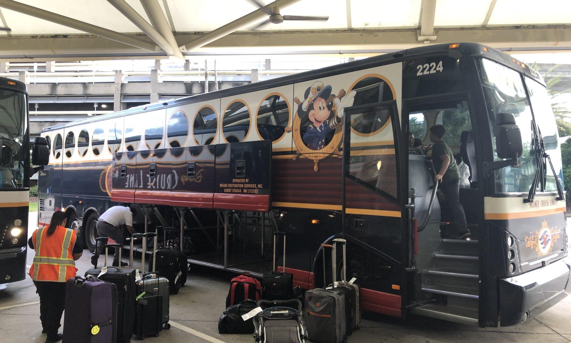 Magical Express bus at Orlando airport, Florida, heading to our resort, Pop century, Disney World