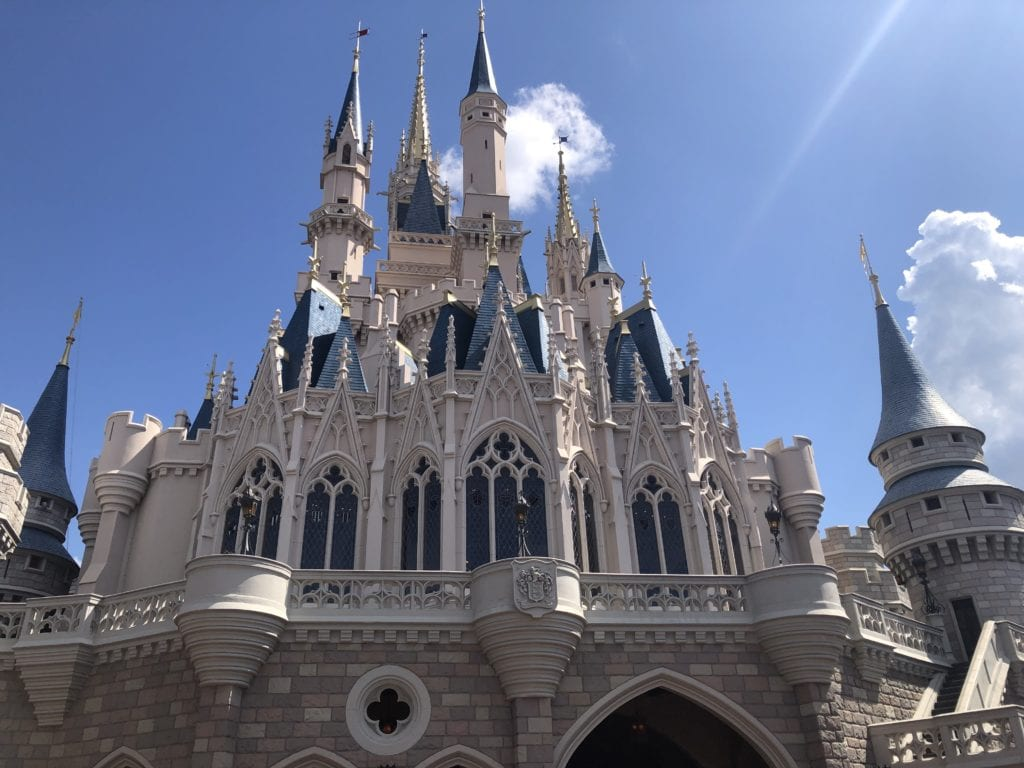 Magic Kindom's Cinderella Castle, up close and personal, disney world, orlando, florida