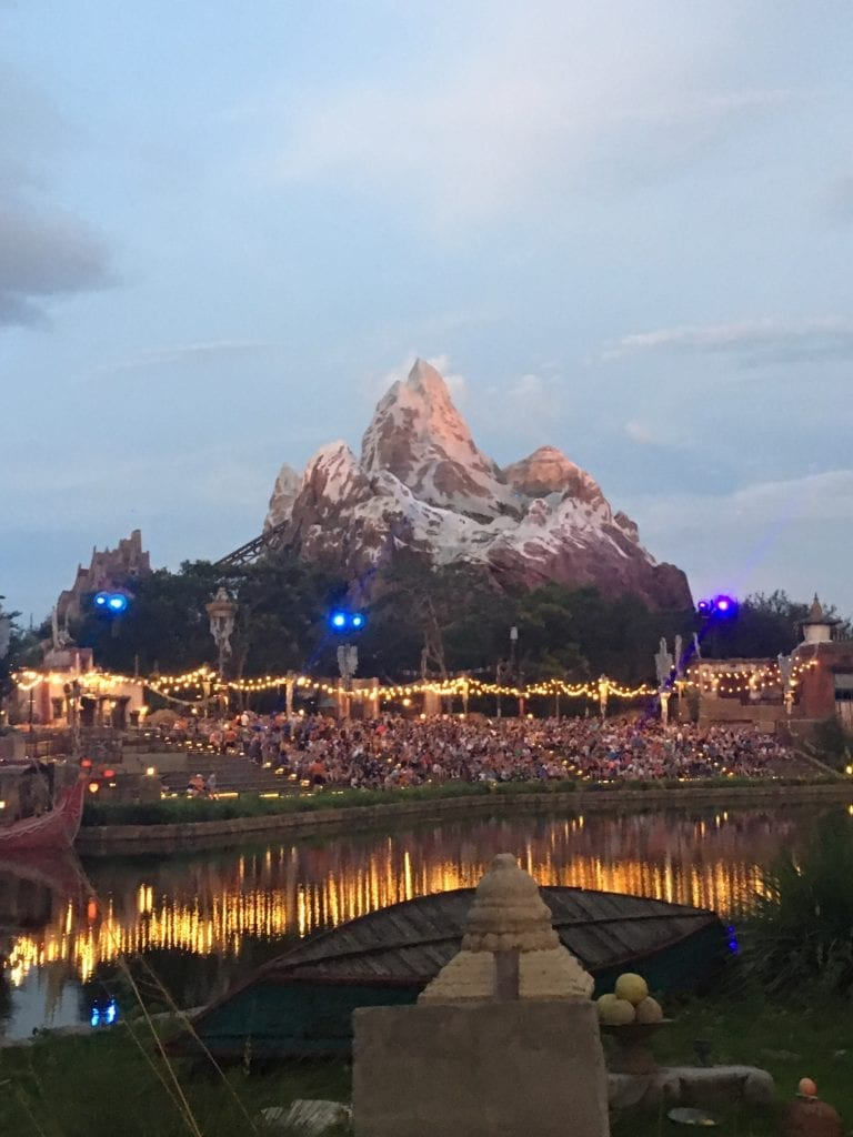 Disney World Vacations 2019 theme parks Animal Kingdom the river of lights show is about to start